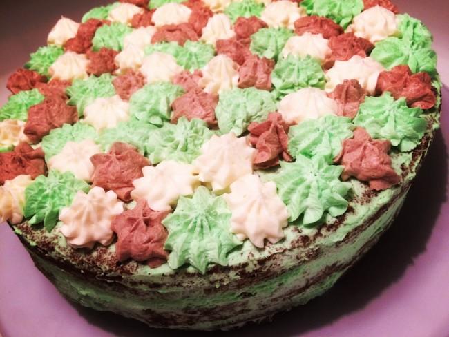 Päron- och minttårta