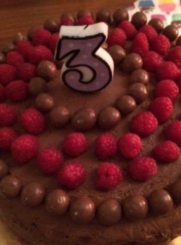 Chokladtårta med hallonmousse