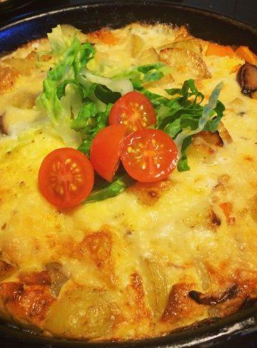 Frittata med färskpotatis och mozzarella