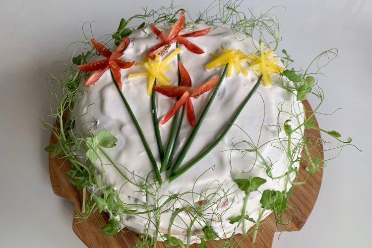 Smörgåstårta blommor